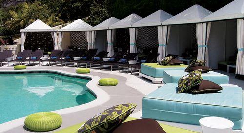 Turquoise Pool W Hotel Elle Decor
