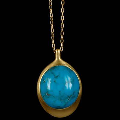 Persion Turquoise Pendant Necklace TenThousandThings NYC