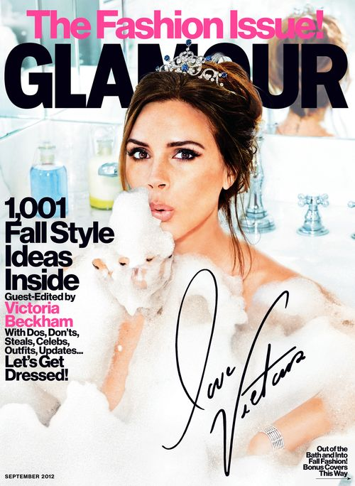 Victoria Beckham covers Glamour magazine in September