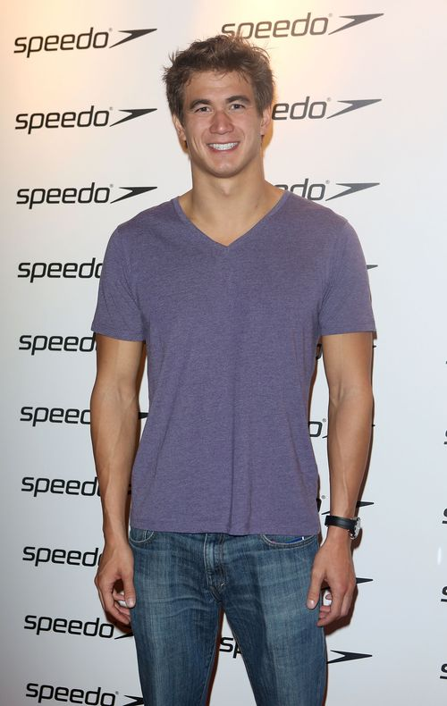 Three time Olympic gold medal winning swimmer Nathan Adrian